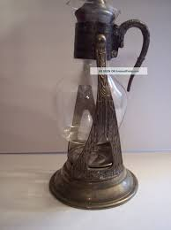 vintage corning glass tea pot coffee pot carafe ornate silverplate stand warmer