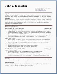 Microsoft Word Resume Templates Free Free Microsoft Resume Template