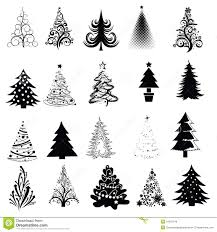 Fir Tree Clipart Silhouette  Pencil And In Color Fir Tree Clipart Christmas Tree Outline Clip Art