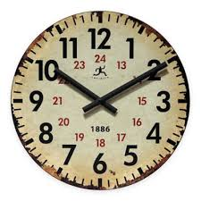 infinity wall clock. infinity instruments vintage wall clock t