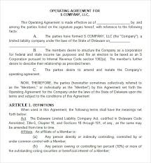 template for llc operating agreement operating agreement 8 free pdf doc download