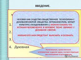 Презентация на тему СФЕРА ДУХОВНОЙ ЖИЗНИ ПРЕЗЕНТАЦИЯ ПО  4 ОСНОВНЫЕ