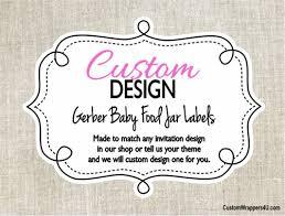 Custom Design Made To Match Gerber Baby Food Jar Labels