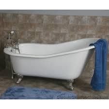 61 cast iron slipper tub w ball claw feet
