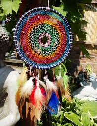 Dream Catcher With Crystals Colourful Dream Catcher Little Citrine Crystals By RavenWolfArt On 22