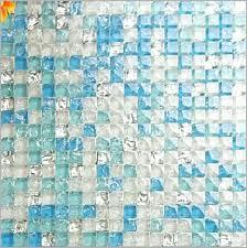 sea glass tile shower a fresh blue crystal mosaic crackle patterns diy pa c8 sea