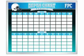 Blank Youth Football Depth Chart Football Depth Chart Template Excel Format Football