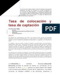 COLOCACIONES | Interés | Dinero