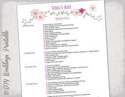 Printable Wedding Timeline Checklist Wedding Checklist To Do List Wedding Planner Timeline Etsy