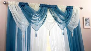 Teal Bedroom Curtains Teal Amp Ivory Voile Swags Amp Curtain Panels 9 Peice Set