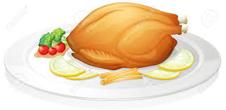 plate of food with chicken clipart. Simple Chicken Roast Chicken Dinner Clipart With Plate Of Food Chicken Clipart