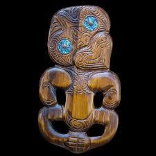 large carved tiki wall hanging on tiki wall art nz with large carved wood maori tiki wall art the bone art place