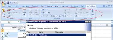 financial management excel 40707 sas solutions add in for microsoft office menu does not