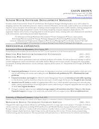 job winning senior web and software developer resume sample featuring  professional experience for job vacancy -