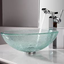 Bathroom Sink Bowls With Vanity  Modern Luxury Design With Bowl  Glass And Stainless Sink Bowls On Top Of Vanity L14