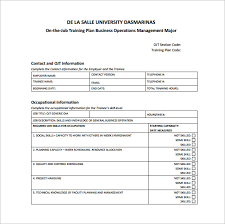 new hire training plan template. creating an employee training plan document sample Holaklonecco