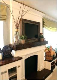 installing flat screen tv over fireplace building the fake fireplace mantel mount flat screen tv over