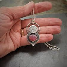 pink sapphire pendant necklace catclaw sensitive briar product images of
