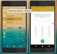 Download Xperia Seashore Theme Gizmo Bolt Exposing Technology