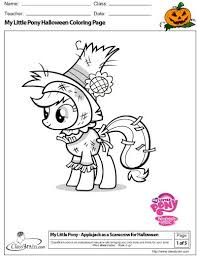 Small Picture My Little Pony Halloween Coloring Pages