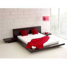 KING SIZE MODERN JAPANESE STYLE PLATFORM BED WITH HEADBOARD AND 2