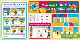 Little Miss Chart Mr Men And Little Miss Characteristics Of Effective Learning