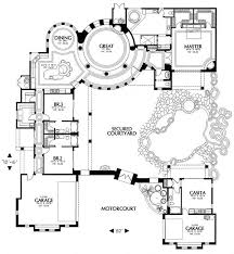 spanish hacienda floor plans with courtyards house