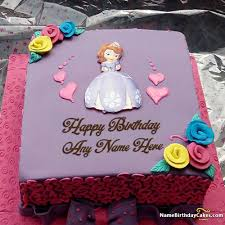 Awesome Fairy Cakes For Girls Birthday Wishes With Name Hbd Cake