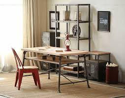 american country wrought iron vintage desk. american country old vintage wrought iron table and solid wood desk industrialstyle tables chairs combination c