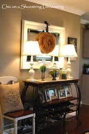 console table decor. Living Room Decorating Ideas On A Budget - This Is EXACTLY What We Need For The Wall Close To Kitchen In Open Dining Area. 3023 397 1 Alyssa Waldron Console Table Decor