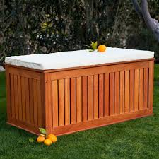 wood garden bench with storage home outdoor decoration