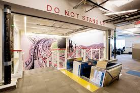 at google 20 the rollercoaster stair brings drama and fun into an office space atmosphere google office