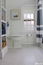vinyl we transformed our boys bathroom from top to bottom sherwin williams spatial white