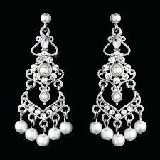 pearl and diamond chandelier earrings elegant crystal and white pearl chandelier earrings pearl diamond chandelier earrings