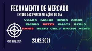 FECHAMENTO DE MERCADO | 23/02 – IRBR3 – OIBR3 – MGLU3 – VVAR3 EMBR3 – AERI3  – PETZ3 – CIEL3 – ENAT3 - YouTube