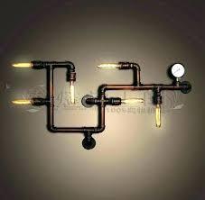 industrial pipe lighting. Diy Pipe Lighting Light Fixture Industrial S H