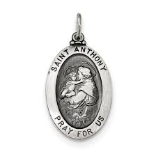 925 sterling silver saint anthony medal pendant charm necklace religious patron st fine jewelry gifts for women for her