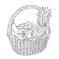 basket with different fruits coloring page for kids fruits img fruit basket coloring pages printable printable coloring pages on coloring pages of fruits in a basket