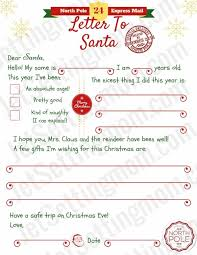 Free Printable Christmas Letter Templates Free Letter