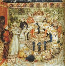 the round table with an open centre la queste del saint graal folio 3 of ms 343 14th century