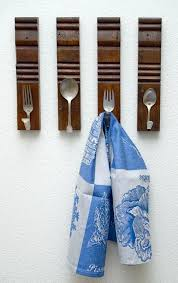 Kitchen Towel Hooks Love The Spoon And Fork Hook Idea Kitchen Towel