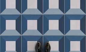 kubrick retro blue feet vinyl flooring