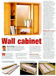 Making A Wall Cabinet Mirror Wall Cabinet Plans O Woodarchivist