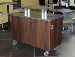 office coffee cart. Custom Coffee Cart \u0026 Trash Recepticle For Cafe Office