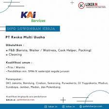 Bhit) (sebelumnya bernama pt bhakti investama tbk) atau lebih dikenal dengan nama mnc corporation atau mnc group merupakan perusahaan multinasional yang bergerak di bidang media, finansial, properti, sumber daya alam, dan transportasi yang berpusat di jakarta, indonesia, didirikan pada 2 november 1989. Lowongan Kerja Program Magang 2021 Pt Reska Multi Usaha Dibutuhkan 1 F B Ba Aikerja Com