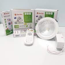 Đèn LED âm trần điều khiển từ xa bằng remote Rạng Đông model D AT14L - Đèn  trần