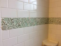 photos white tile shower with green accent panels idolza