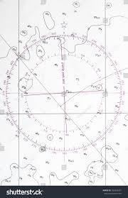 Compass Deviation Chart Navigation Chart Fragment Compass Deviation Symbol Stock