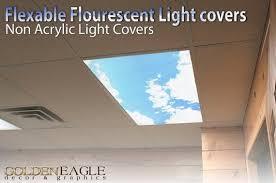 Office ceiling light covers Classroom Flexible Fluorescent Light Cover Films Skylight Ceilingoffice Medical Dental sky Clouds Standiluminacionesco Flexible Fluorescent Light Cover Films Skylight Ceilingoffice