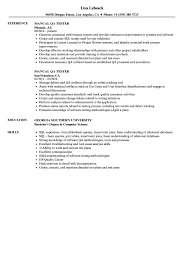 Qa Tester Resume Sample Manual QA Tester Resume Samples Velvet Jobs 72